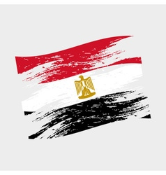 color egypt national flag grunge style eps10 vector image vector image