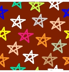 Hand drawn seamless star pattern vector image