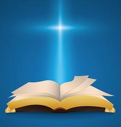 Holy bible design vector