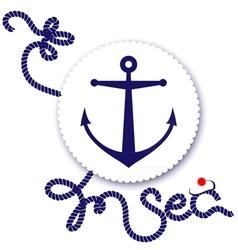 Nautical design anchor vector image