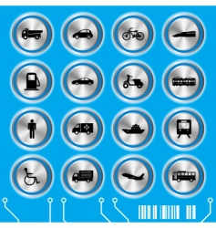 Trans blue transportation icon vector