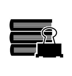 books and clip icon vector image