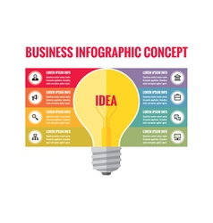 Infographic business concept - creative idea vector