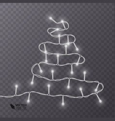 christmas decoration lights effects isolated vector image