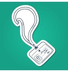 Doctors badge vector image
