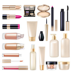makeup items super set vector image vector image