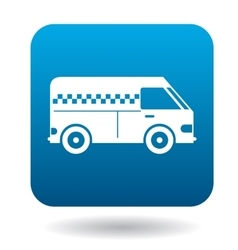 Minibus taxi icon in flat style vector image