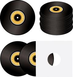 record variation vector image