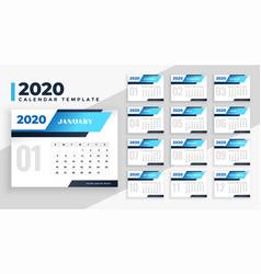 2020 modern calendar layout design template vector