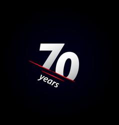 70 years anniversary celebration black and white vector