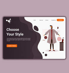 a man wearing fashionable clothes flat design web vector image