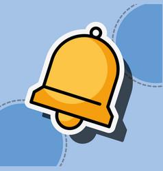 alarm bell customer service vector image