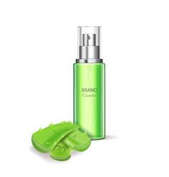 aloe vera cosmetics spray bottle skincare essence vector image