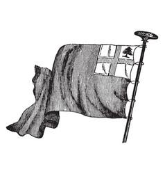 American flag used at battle bunker vector
