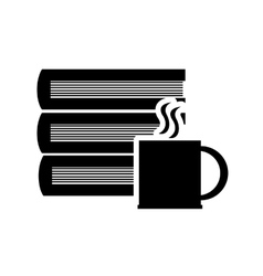 Book and coffee cup icon vector image
