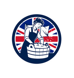 british laundry union jack flag icon vector image