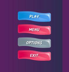 cartoon designed game user interface vector image