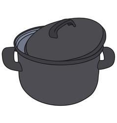 Classic black pot vector