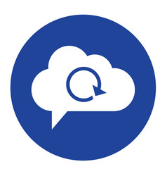 cloud reload icon computing concept vector image