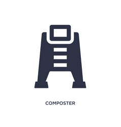 Composter icon on white background simple element vector
