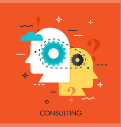 consulting business concept vector image