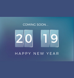 countdown to the new year happy new year 2019 vector image