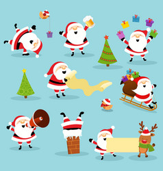 cute santa collection vector image