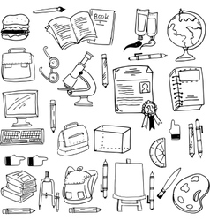 Doodle of education object stock vector image