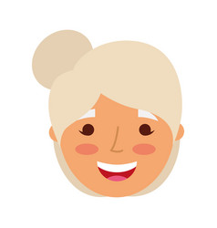 elderly woman lady smiling cartoon people profile vector image