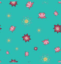 enlightened lotus blooming lotus flowers vector image
