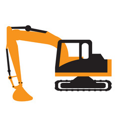 excavator vehicle icon vector image