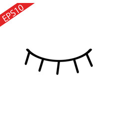 eyelash icon vector image