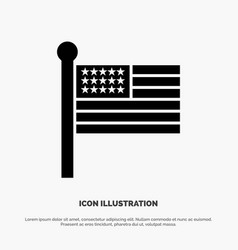 flag states united usa solid glyph icon vector image