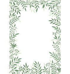 frame plants and leaves vector image