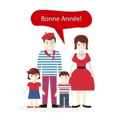 French People Congratulations Happy New Year vector image