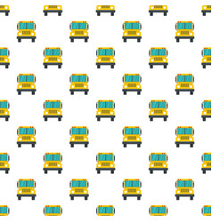 front of school bus pattern seamless vector image