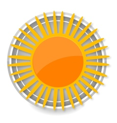 glass sun symbol yellow color isolated vector image