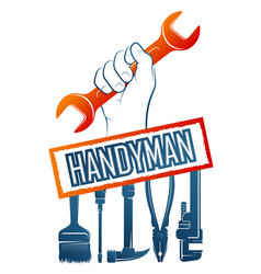 Handyman repair symbol vector