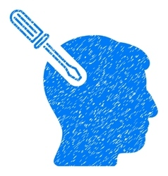 Head Surgery Screwdriver Grainy Texture Icon vector