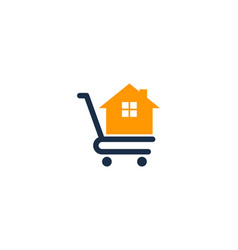 home shopping logo icon design vector image
