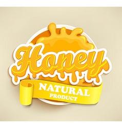 Honey natural label splash vector image
