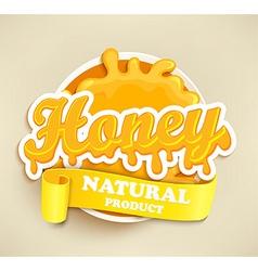 Honey natural label splash vector image vector image