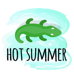 hot summer isolated inflatable crocodile vector image