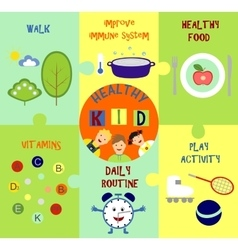 infographics on the topic of child health vector image