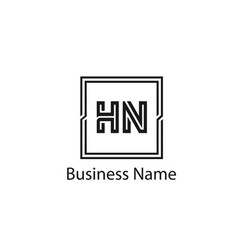 Initial letter hn logo template design vector
