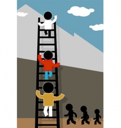 ladder and sky vector image