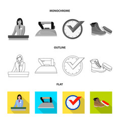 laundry and clean symbol vector image