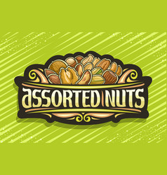 logo for assorted nuts vector image