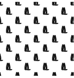 lunch box sausage pattern seamless vector image