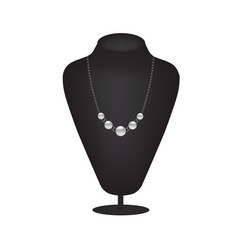 mannequin silhouette with pearl necklace vector image